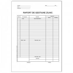 Raport de gestiune zilnic, A4 RS, 2 exemplare, 50 set/bloc