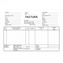 Factura fiscala neplatitori TVA, format A5, 3 texemplare autocopiative