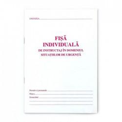 Fisa individuala PSI, format A5, carnet 8 file, fata verso