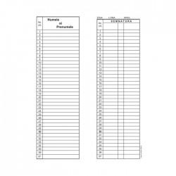 Condica prezenta, 1/2 A4, fata/verso, bloc 100 file, coperta cartonata