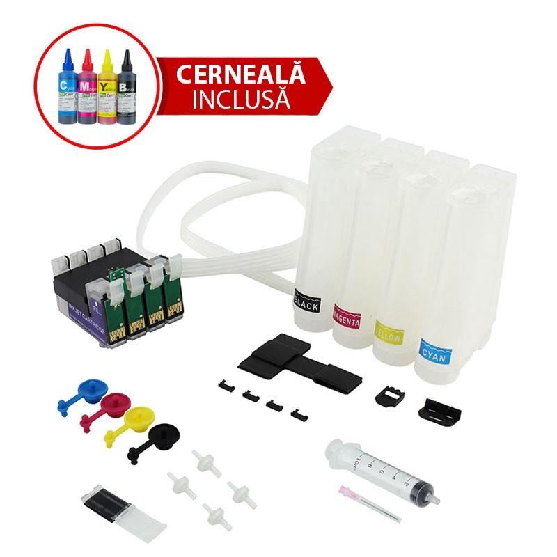Sistem CISS pentru  EPSON T1291 T1292 T1293 T1294 cu cerneala de sublimare