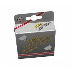 Colturi adezive pentru fotografii, 500 bucati transparente
