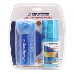 Kit curatare ecran LCD TFT, pamatuf, laveta, spray 200 ml, Esperanza