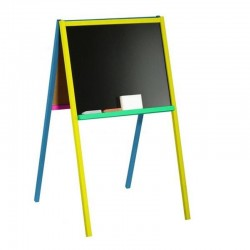Tablita pentru scolari, 2 fete scriere, 90x47 cm, suport de lemn color