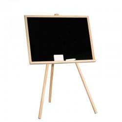Tabla cu creta pentru copii, 97x68 cm, rama lemn, suport 3 picioare