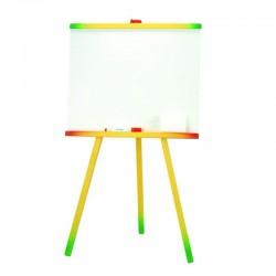 Tablita alba pentru copii, 46x81 cm, 2 accesorii, suport lemn color