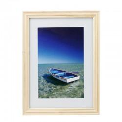 Rama foto Ocean Boat, 13x18 cm, lemn, aspect vintage, de birou
