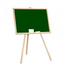 Tablita scolara cu creta, 97x68 cm, rama lemn, suport fixare, verde