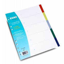 Separator din plastic pentru documente, culori asortate, Exxo