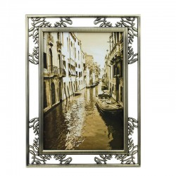 Rama foto metalica Nobless, 10x15 cm, pentru birou, crom