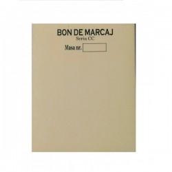 Bon de marcaj, format A7, hartie autocopiativa in 2 exemplare
