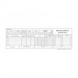 Bon de consum colectiv 1/2 A4, file autocopiative, tipar fata