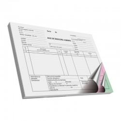 Aviz insotire marfa A5, 3 exemplare color, 50 coli/registru, alb-negru