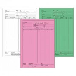 Factura fiscala cu TVA, 3 exemplare, format A4, nepersonalizata