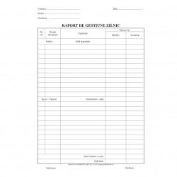 Raport zilnic de gestiune, format A4, RS, bloc 100 file
