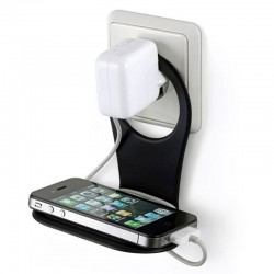 Suport telefon incarcare priza,10x5.5x10 cm, ABS