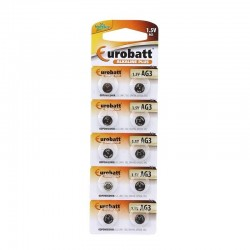 Baterii AG10 1.5 V, alcaline Plus, set 10 bucati, Eurobatt