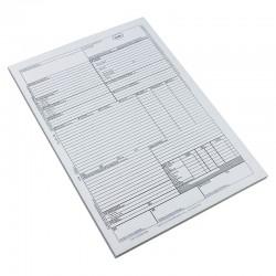 Scrisoare de transport CMR  international, format A4, 5 exemplare autocopiative