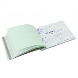 Chitantier A6, 2 exemplare, hartie autocopiativa, alb-negru