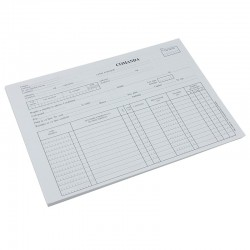 Nota de comanda, format A4, coperta hartie, 100 file/carnet