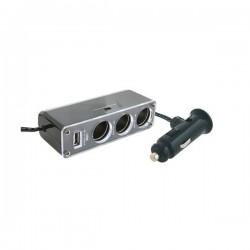 Distribuitor priza bricheta, 3 prize 12V, 1 priza USB 5V, maxim 500 mA