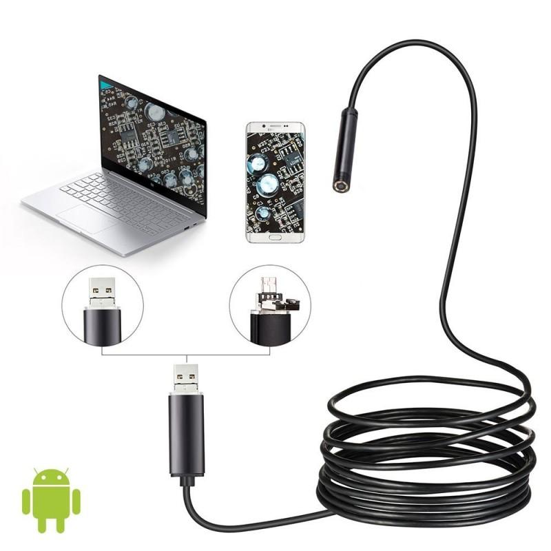 Camera video Endoscop rezistenta la apa, diametrul 9mm, USB