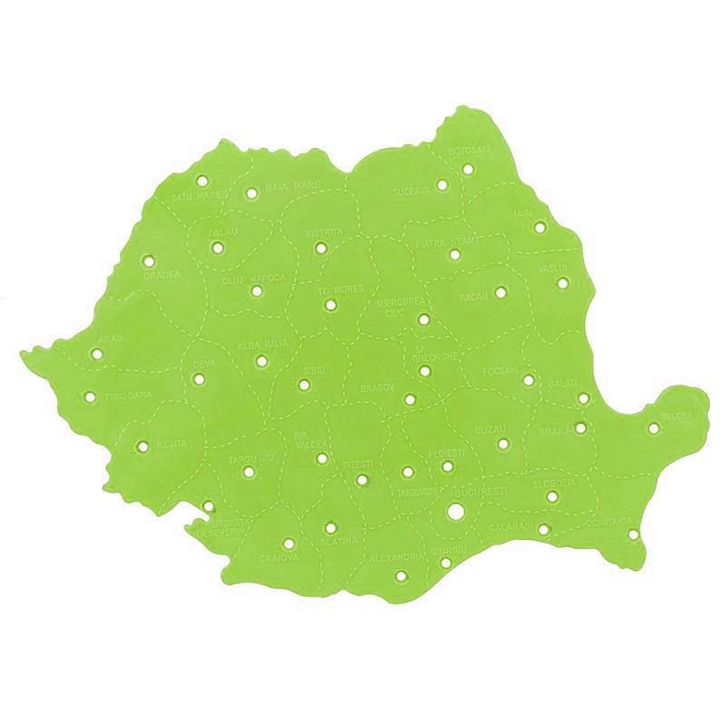 Sablon Harta Romaniei Plastic 25x19 Cm Nebo