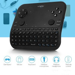 Mini tastatura si gamepad wireless, 6 in 1, jack 3.5 mm, negru, Uniplay