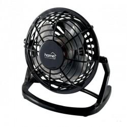 Ventilator de birou, alimentare USB, 2.5W, 10 cm, palete ABS, negru, Home