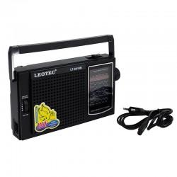 Radio portabil, 2.5W, 12 benzi FM/TV/MW/SW1-9, LEOTEC