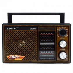 Radio portabil, 3W, 11 benzi FM/MW/SW1-9, stil vintage Leotec