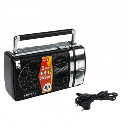 Radio FM/TV/LW/SW, sensibilitate ridicata, 8 Ohmi, Jack 3.5 mm, Leotec