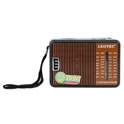Radio FM portabil, 4 benzi, 15W, antena telescopica, 3V, Leotec