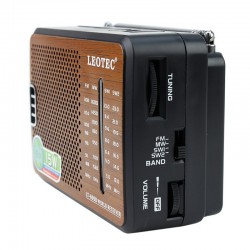 Radio portabil sensibilitate ridicata, 4 benzi FM/MW/SW1/SW2, Leotec