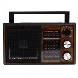 Radio portabil clasic, 11 benzi, sensibilitate ridicata, ABS, Leotec