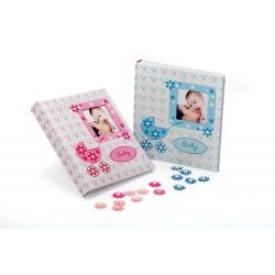 Album foto Baby Buggy, coperta personalizabila, poze autoadezive, 29X32 cm