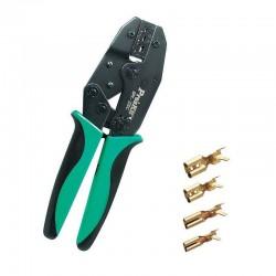 Cleste profesional presat papuci, 0.5-6 mmp, transmisie cu clichet