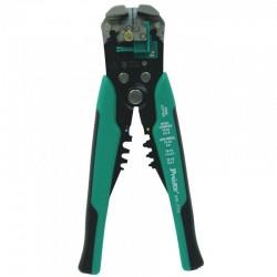 Cleşte dezizolator şi pentru presat papuci, opritor detasabil, 210 mm