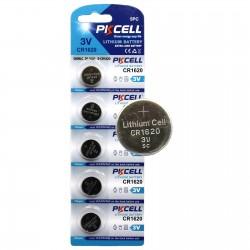 Bateri Lithium CR1620, 3V, 70 mAh, set 5 bucati