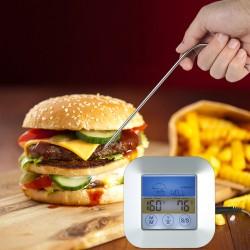 Termometru alimentar cu sonda, 3V, touchscreen, LCD iluminat, temporizator