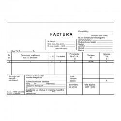 Factura fiscala cu TVA, A5, hartie autocopiativa, trei exemplare