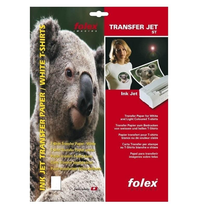 Hartie transfer termic, materiale textile albe sau culori deschise, printare inkjet