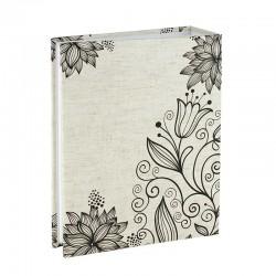Album fotografii Lily 10x15, capacitate 300 poze, 75 file, model floral