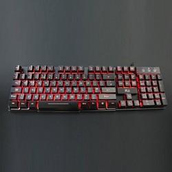Tastatura Gaming multimedia iluminata in 3 culori, Rii