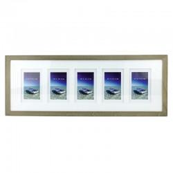 Rama foto multipla Seaside Boat, 5 poze, format 10X15, fixare perete, lemn