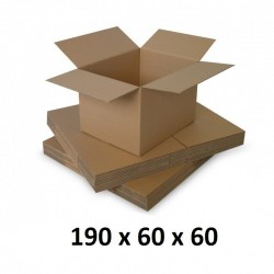 Cutie carton 190x60x60, natur, 5 straturi CO5, 690 g/mp
