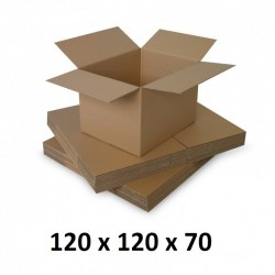 Cutie carton 120x120x70, natur, 5 straturi CO5, 690 g/mp