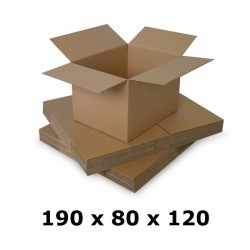 Cutie carton 190x80x120, natur, 5 straturi CO5, 690 g/mp