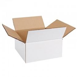 Cutie carton 120x120x70, alb, 3 straturi CO3, 435 g/mp