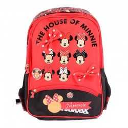 Ghiozdan Minnie Mouse Red, clasele 1-4, impermeabil, separator interior